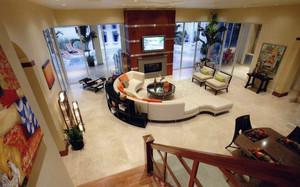 现代温馨小别墅客厅装修图片大全