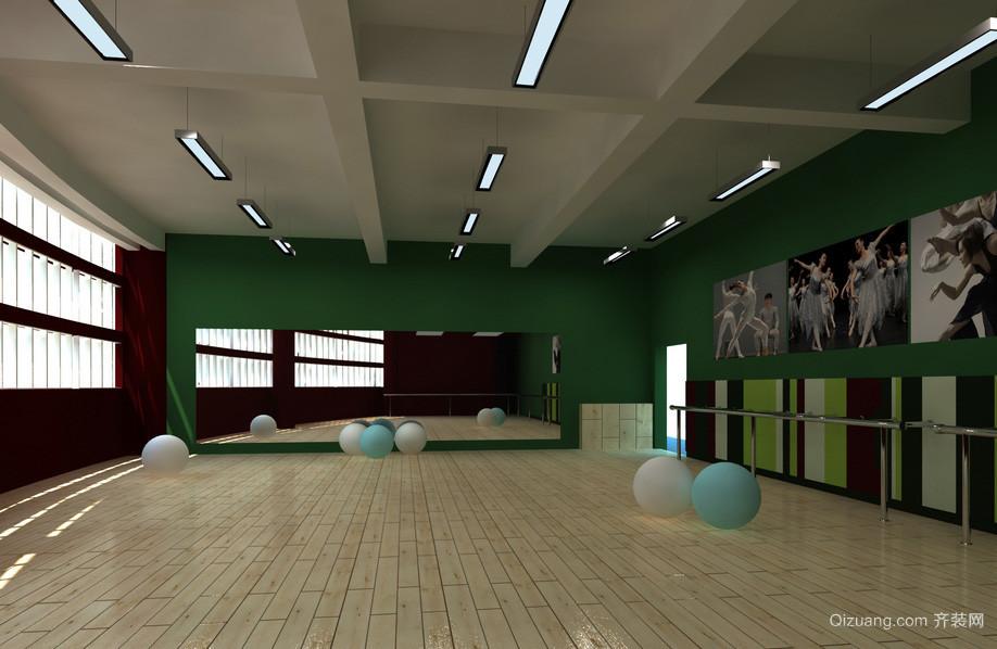 艺术学校简约舞蹈教室装修设计效果图 齐装网装修效果图高清图片