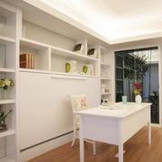 30平米韩式田园风格白色系书房装修效果图