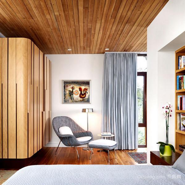 现代迷人别墅俊秀小卧室装修设计效果图