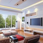 时尚风格两房一厅户型装修效果图