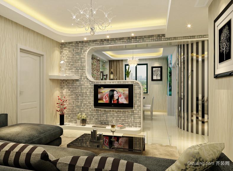 2016精致独特的欧式小户型客厅装修效果图实例