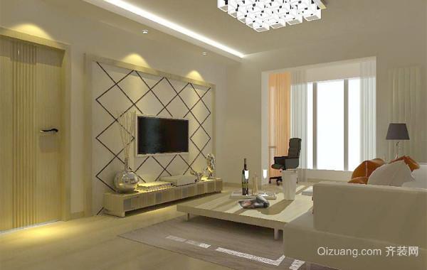 别具创意的大户型欧式客厅电视墙装修效果图