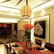 大型东南亚风格餐厅奢华吊顶装饰