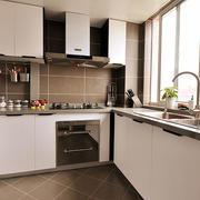 30平米现代简约风格厨房装修效果图