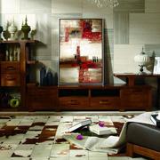 现代简约深色系客厅电视柜家具装饰