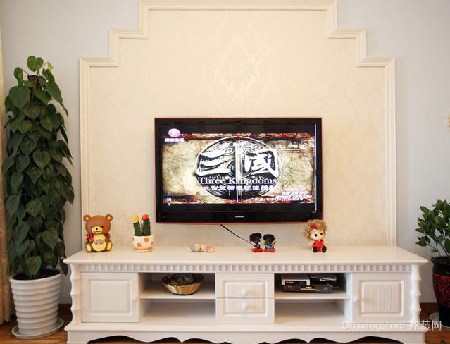 别墅欧式田园风格客厅电视柜装修效果图