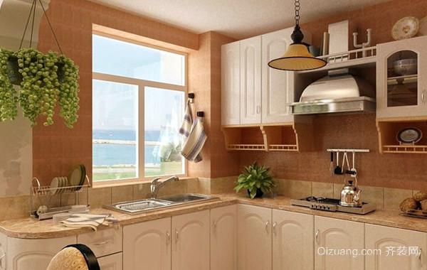 30平米韩式清新风格整体厨房设计图片