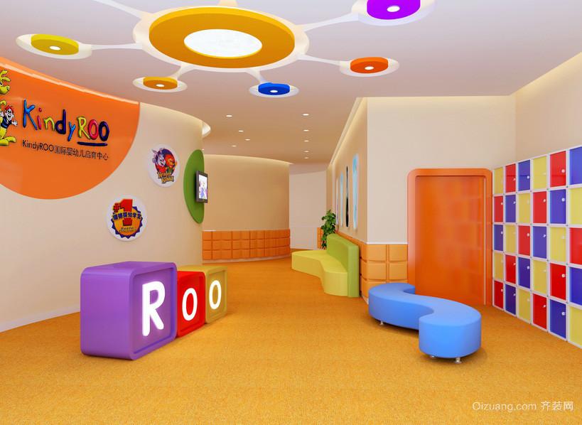 高级都市幼儿园学校走廊装修设计效果图