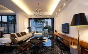 都市简约三居室豪宅客厅装修设计图