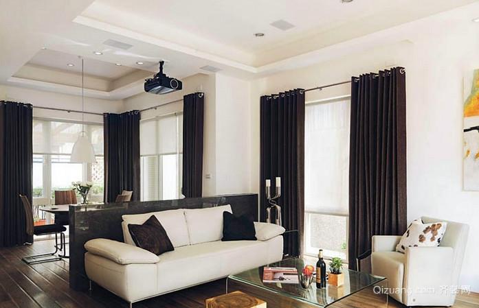 传统风格两房一厅户型装修效果图