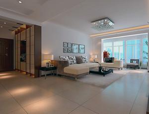 雅俗共赏的大户型欧式客厅背景墙装修效果图