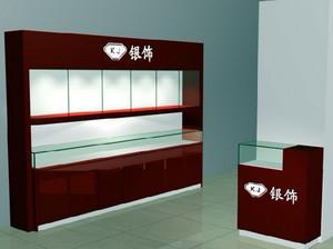 现代简约风格银饰店展厅柜台装修效果图