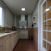 L型简约厨房密集吊顶装饰