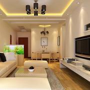 现代简约风格客厅电视背景墙装饰