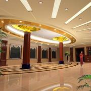 欧式风格商务酒店大堂装饰