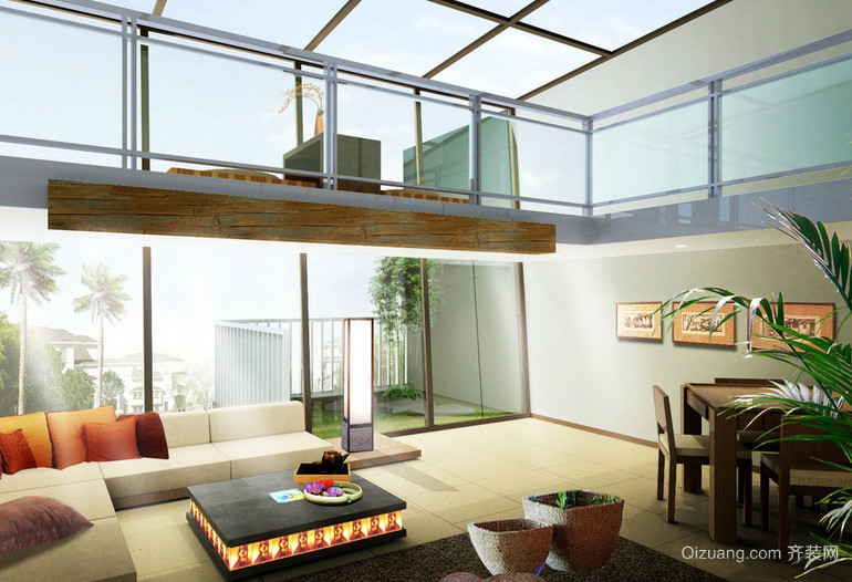 创意系列两房一厅户型装修效果图