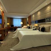 中式简约风格商务酒店背景墙装饰