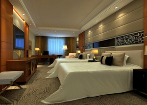 2016年大型商务酒店客房装修效果图