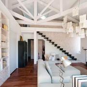 90平米北欧风格阁楼客厅装修效果图