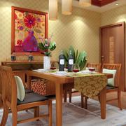 东南亚风格暖色系餐厅灯饰装饰