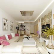 现代简约风格客厅沙发背景墙装饰