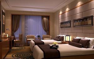 商务酒店客房床头装饰