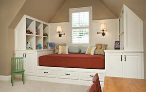 三居室宜家风格斜顶阁楼装修效果图大全
