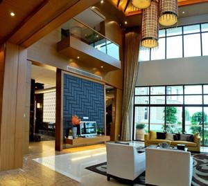 后现代风格复式豪宅客厅装修设计图