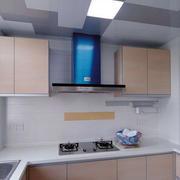 大型厨房简约密集吊顶装饰