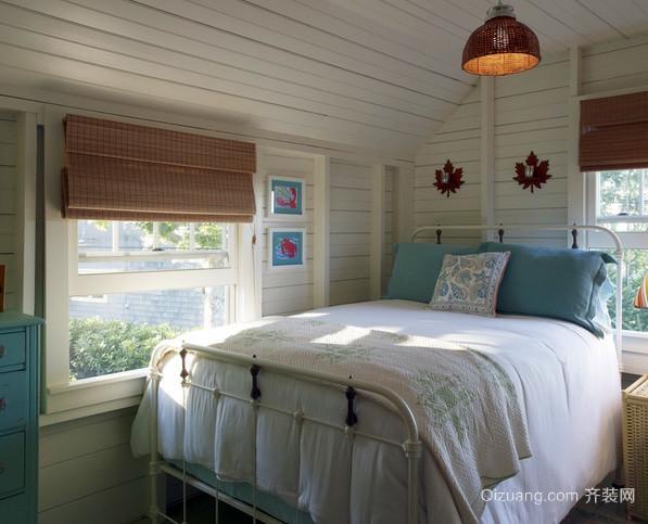 30平米美式简约风格阁楼卧室装修效果图