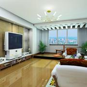 都市风格两房一厅户型装修效果图