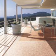 2016精致美观大方的别墅型欧式阳台装修效果图