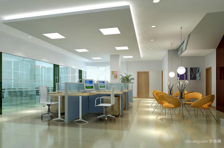 2016精致企业办公室桌椅装修实景图