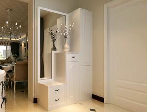 复式楼现代简约风格鞋柜装修效果图