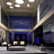 高挑后现代风格客厅装饰