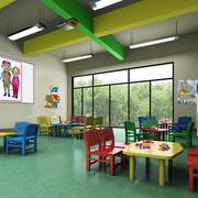 70平米现代简约风格幼儿园手工教室装修效果图