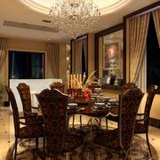 欧式风格奢华餐厅飘窗装饰