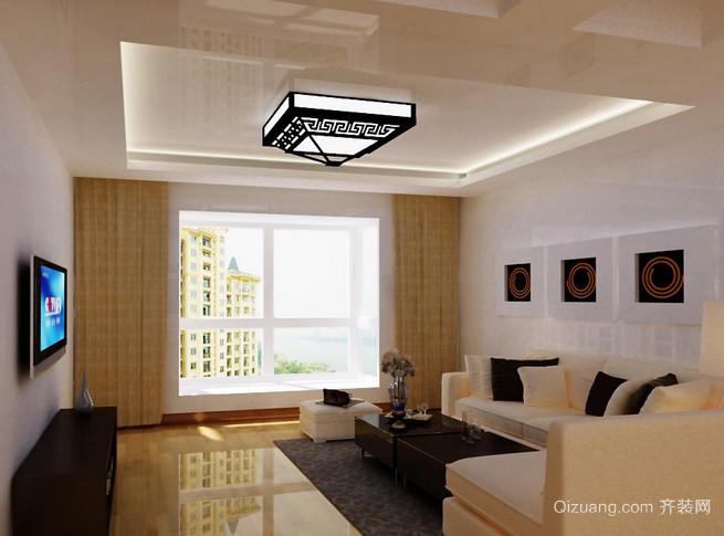 现代简约风格农村住房客厅装修效果图