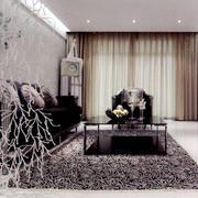 沙发背景墙印花壁纸装饰