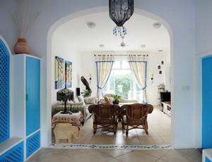 田园混搭风格104平米客厅装修图片