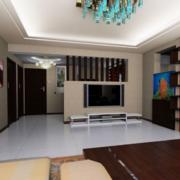 现代欧式大户型客厅电视墙装修效果图欣赏