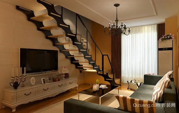 90平米房现代简约风格屋家庭简单装修设计图