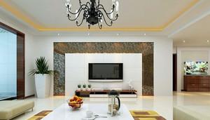 别墅田园风格液晶电视墙装修效果图大全