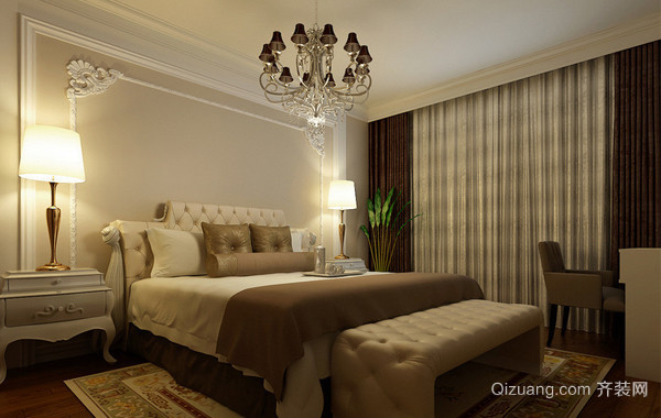 40平米小户型欧式卧室装修效果图实例欣赏