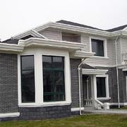欧式简约风格两层小别墅外墙装修效果图