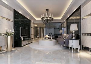 欧式风格157平米家居客厅瓷砖贴图欣赏