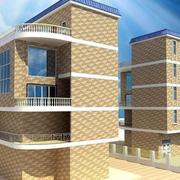 农村三层现代简约风格小别墅外墙砖装修效果图