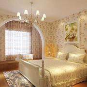 梦幻田园风格两室两厅卧室装修图片
