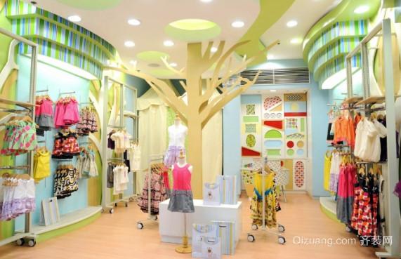 百货中心精致童装店装修效果图